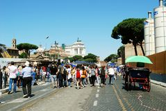 Rome city life. View of Rome city on June 1, 2014 Royalty Free Stock Photography