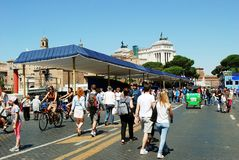 Rome city life. View of Rome city on June 1, 2014 Royalty Free Stock Images