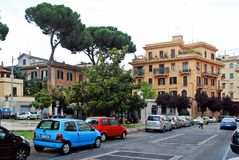 Rome city life. View of Rome city on May 31, 2014 Royalty Free Stock Image