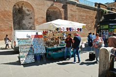 Rome city life. View of Rome city sellers on June 1, 2014 Royalty Free Stock Photos