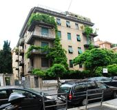 Rome city old house and green trees Stock Photography