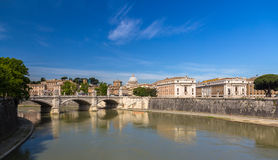 Rome city over The Tiber river, Italy Stock Photo