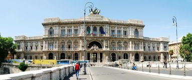 Rome city Palace of Justice architecture view on May 30, 2014 Stock Image