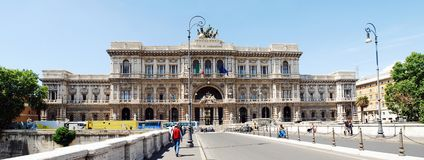 Rome city Palace of Justice architecture view on May 30, 2014 Stock Photo