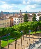 Rome city park, Italy Stock Image