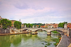 Rome city River Tiber view Italy Stock Photography