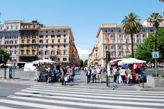 Rome city street life on May 30, 2014 Stock Photography