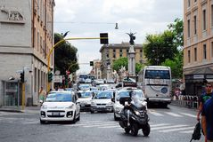 Rome city street life on May 30, 2014 Stock Photography