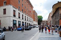 Rome city street life on May 30, 2014 Royalty Free Stock Images