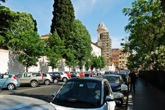 Rome city street view near by Spanish steps on May 29, 2014 Stock Photo