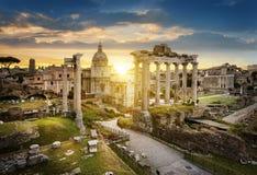 Rome city by sunrise Italy Stock Photos