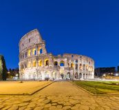 Rome city view of Colosseum at night in Rome, Italy Royalty Free Stock Photography