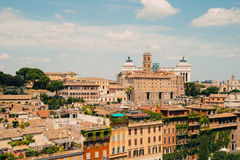 Rome city view from Roman Forums, Italy Stock Images
