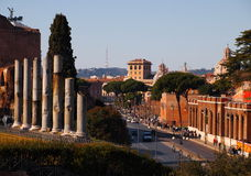 Rome Cityscape. City view, photo taken in february Stock Photo