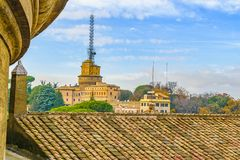 Rome Cityscape Aerial View. Rome architecture cityscape view at afternoon time Royalty Free Stock Images