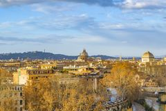 Rome Cityscape Aerial View from Aventino Hill. Viewpoint Stock Images