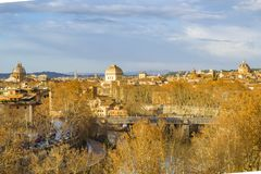Rome Cityscape Aerial View from Aventino Hill. Viewpoint Royalty Free Stock Photography
