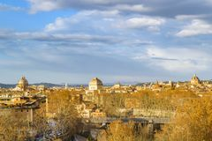 Rome Cityscape Aerial View from Aventino Hill. Viewpoint Royalty Free Stock Photo
