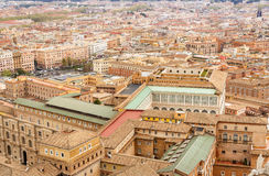 Rome cityscape, aerial view Royalty Free Stock Image