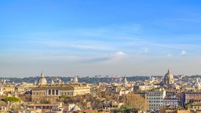 Rome Cityscape Aerial View from Trastevere Hill Royalty Free Stock Images