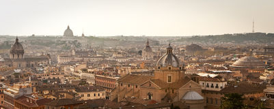 Rome cityscape in dusk. Royalty Free Stock Image