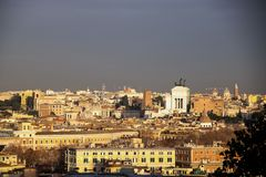 Rome cityscape. From Gianicolo hill Royalty Free Stock Photo