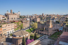 The Rome cityscape in Italy Stock Images