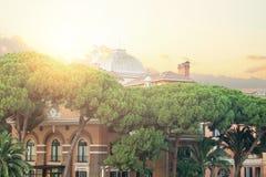 Rome cityscape, Italy. Rome landmark.  stock photo
