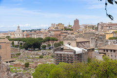 Rome cityscape with Roman Forum view. Stock Photo