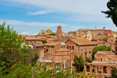 Rome cityscape with Roman Forum view. Stock Photos