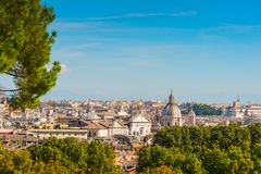 Rome cityscape seen from Gianicolo promenade. Italy Royalty Free Stock Image