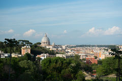 Rome cityscape with St Peter dome Royalty Free Stock Photo