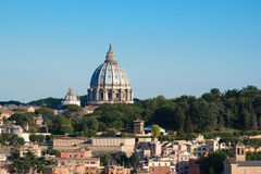 Rome cityscape with St Peter dome Royalty Free Stock Photos