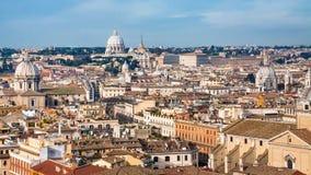Rome cityscape in sunny winter day Stock Photos