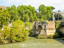 Rome cityscape. Tiber River, Rome, Italy Royalty Free Stock Image