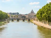 Rome cityscape. Tiber River, Rome, Italy Stock Photo