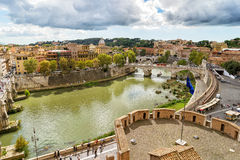 Rome cityscape with Tiber River Royalty Free Stock Photography