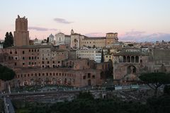 Rome cityscape, travel to Europe.  Royalty Free Stock Image