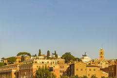 Rome Cityscape View. Rome eclectic architecture cityscape view at afternoon time Royalty Free Stock Image