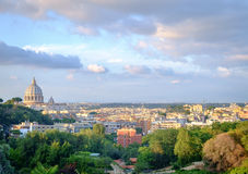 Rome cityscape with view of san peters's cathedral Stock Photography