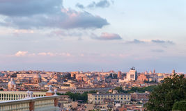 Rome cityscape with view of  vittoriano monument Stock Photo