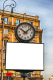 Rome Clock Billboard Stock Images