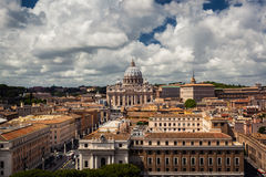 Rome and cloudy skyscape overview Royalty Free Stock Photography