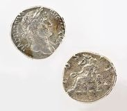Rome coin money Stock Photos