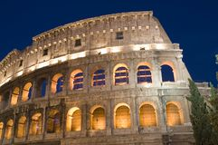 Rome Coliseum closeup royalty free stock photos