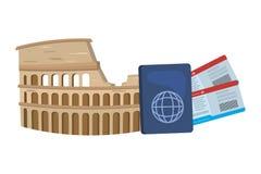 Rome coliseum design. Rome coliseum landmark design, Travel trip vacation tourism journey and tourist theme Vector illustration vector illustration