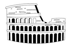 Rome coliseum design. Rome coliseum landmark design, Travel trip vacation tourism journey and tourist theme Vector illustration stock illustration