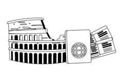 Rome coliseum design. Rome coliseum landmark design, Travel trip vacation tourism journey and tourist theme Vector illustration royalty free illustration
