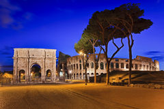 Rome Coliseum Gate Rise Stock Photography