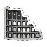 Rome coliseum isolated icon. Vector illustration design Royalty Free Stock Photography